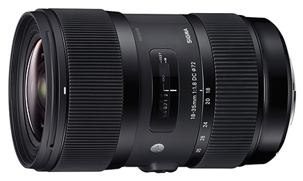Sigma 18-35mm f/1.8 Side View